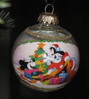 Kalenderblatt for Disney weihnachtskugeln