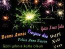 ein gutes neues Jahr in verschiedenen Sprachen