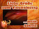 Liebe Grüße zum Valentinstag, mein Schatz