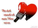 Für dich streich ich mein Herz rot an