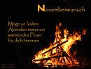 Novemberwunsch: Möge an kalten Abenden immer ein Feuer für dich brennen