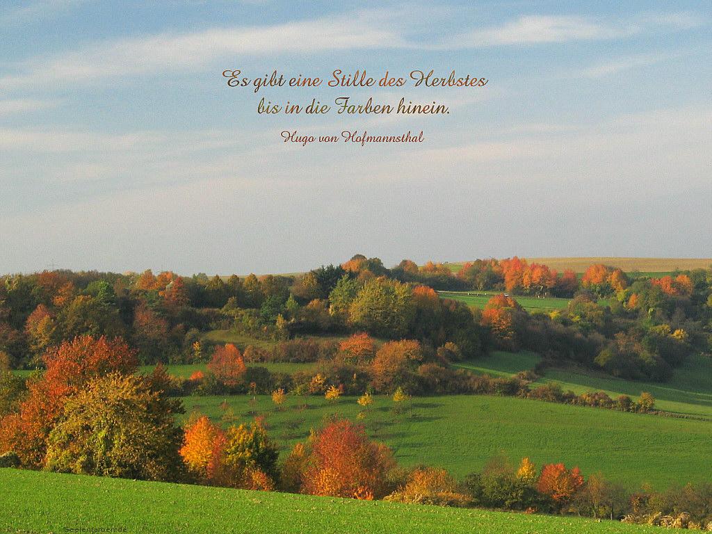 Herbst Spruch Zitat Postkarte