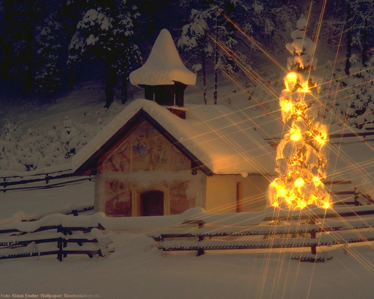 Seelenfarben Weihnachten.Weihnachten Tannenbaum Lichterkette