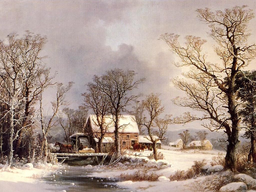 Gemälde Winter