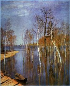 Isaak Levitan: Весеннее наводнение, Исаак Левитан